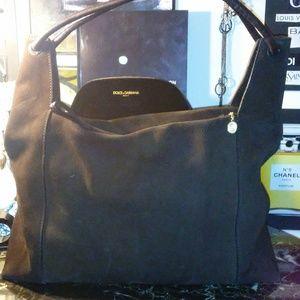 GUCCI brown suede shoulder bag